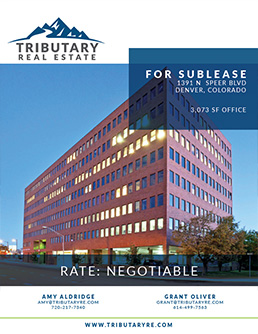 1391 N Speer Blvd Denver Sublease Tributary Real Estate