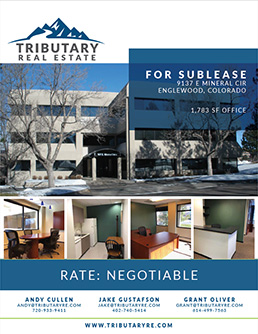 9137 E Mineral Ennglewood Co Sublease Tributary Real Estate