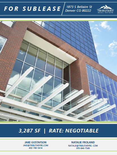 1873 S Bellaire St. Sublease