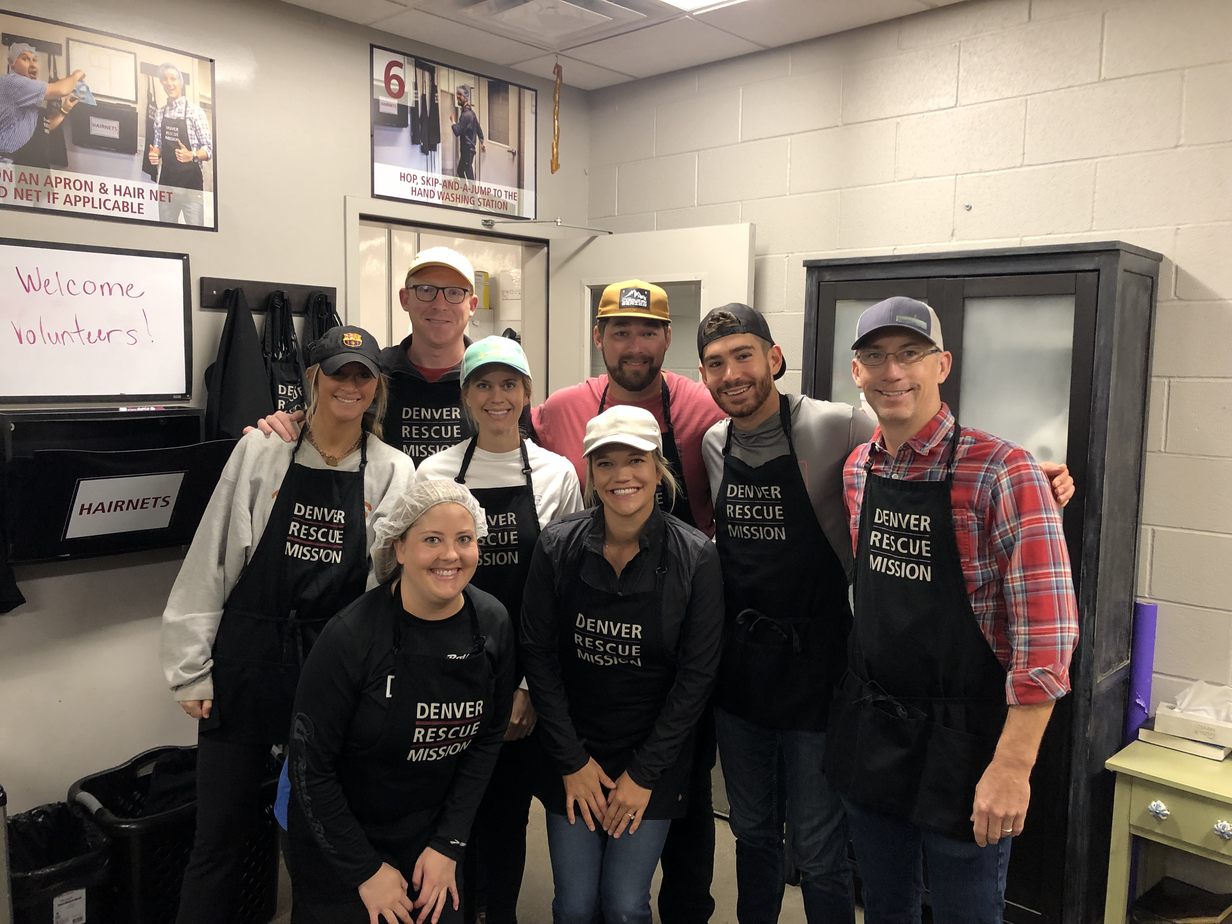 The Tributary team volunteering at Denver Rescue Mission